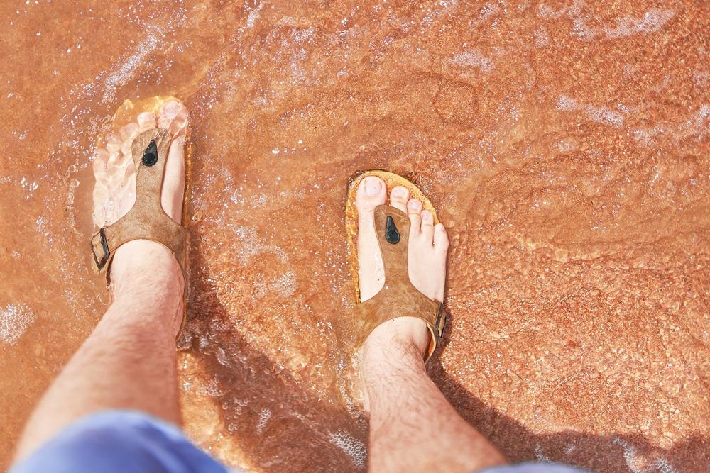 Break in Birkenstocks With Water